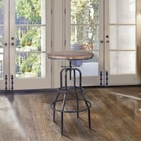 Petropolis Industrial Pub Table in Industrial Grey and Pine Wood