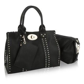 MKF Collection Elissa 3 pc Set Satchel Handbag by Mia K Farrow