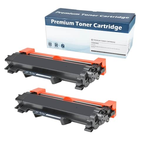 Brother 'TN760' Black Compatible Toner Cartridge (Set of 2) (WITH CHIP)