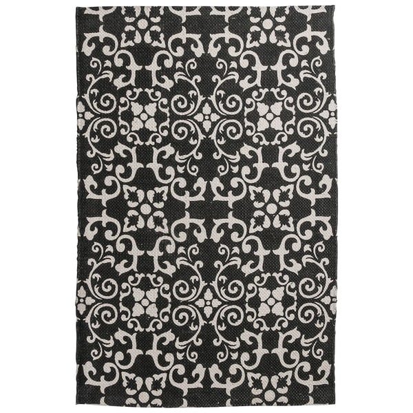 Shop Unbelievable Mats 20 X 32 Aelegant Black And White Accent Rug