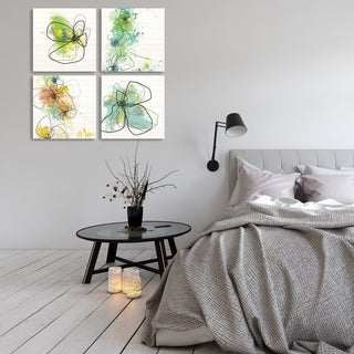 ArtWall's Abstract Floral Wood Pallet Set