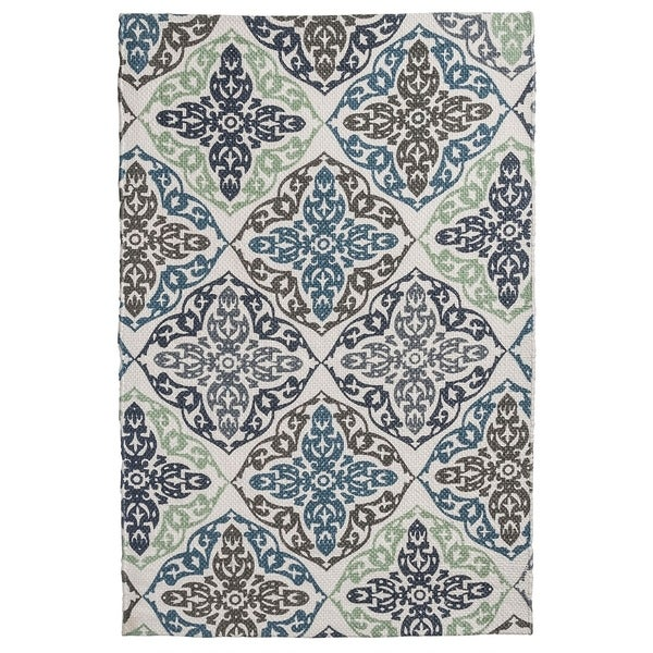 "Unbelievable Mats 20"" x 32"" Chic Damask Accent Rug - 20""x32"""