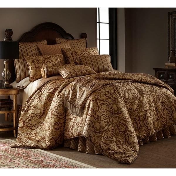 Austin Horn Clics Botticelli Brown 3 Piece Luxury Comforter Set