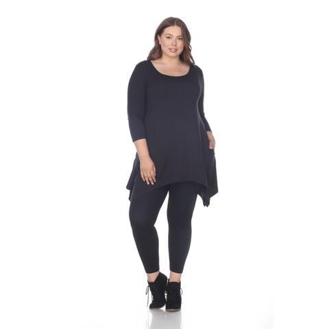 White Mark Women's Plus Size Makayla Tunic /Top