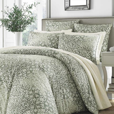 Stone Cottage Abingdon King Size Duvet Set in Green (As Is Item)