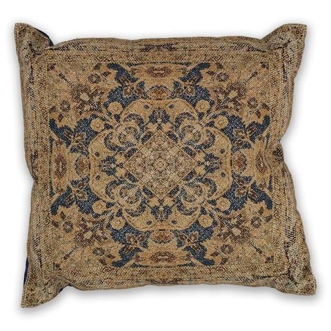 KAS Navy/Gold Artesia Decorative Throw Pillow