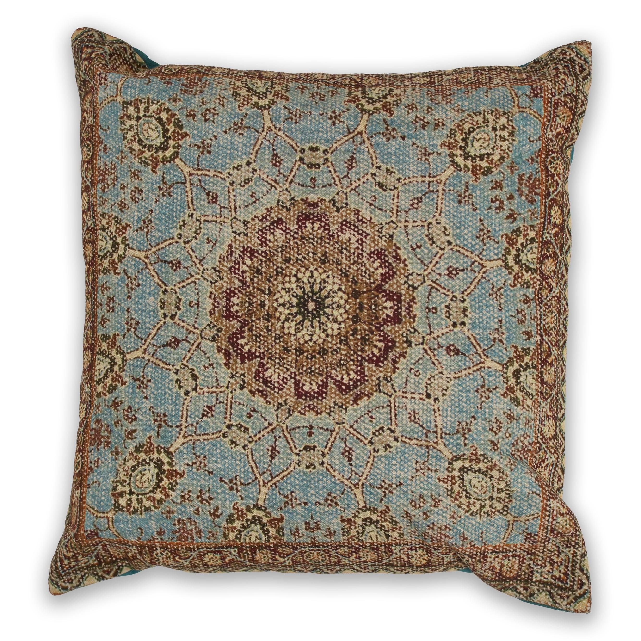 Kas Blue Morocco Decorative Throw Pillow Overstock 22824331