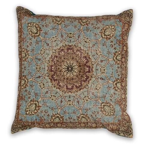 KAS Blue Morocco Decorative Throw Pillow
