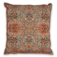 KAS Teal/Coral Zena Decorative Throw Pillow