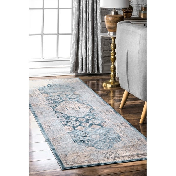 nuLOOM Light Blue Fancy Mystical Ornamental Area Rug