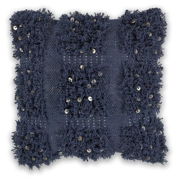 Shop KAS Navy Boho Decorative Throw Pillow