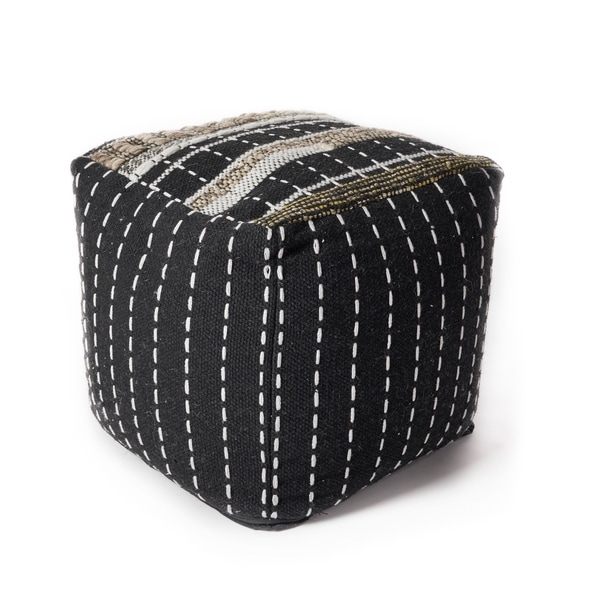 KAS Black & White Pulse Pouf