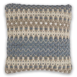 KAS Blue/Beige Laguna Decorative Throw Pillow