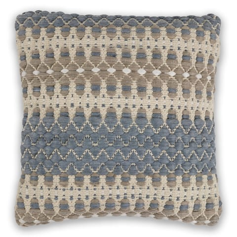 KAS Blue/Beige Laguna Decorative Throw Pillow