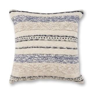 KAS Ivory/Blue Juno Decorative Throw Pillow