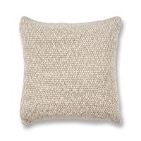KAS Oatmeal Heather Knit Decorative Throw Pillow
