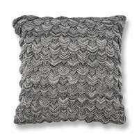 KAS Black & White Knit Decorative Throw Pillow