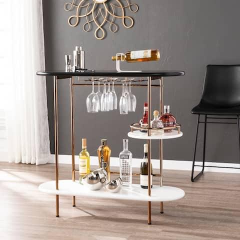 Carson Carrington Ringkobing Bar Table Wine Rack