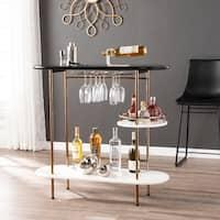 Carson Carrington Ringkobing Wine/ Bar Table with Glassware Storage