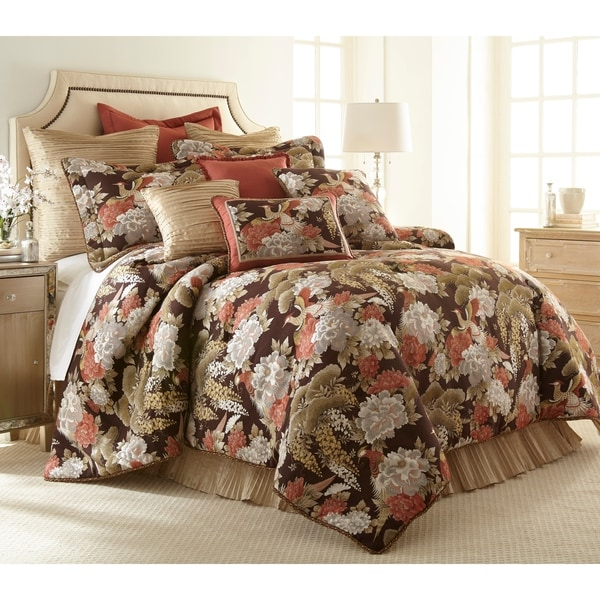 PCHF Paradise Peacock 3-piece Luxury Comforter Set
