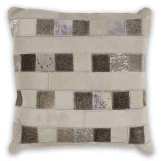 KAS Ivory Dimensions Decorative Throw Pillow