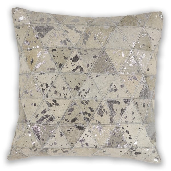 KAS Ivory Prism Decorative Throw Pillow