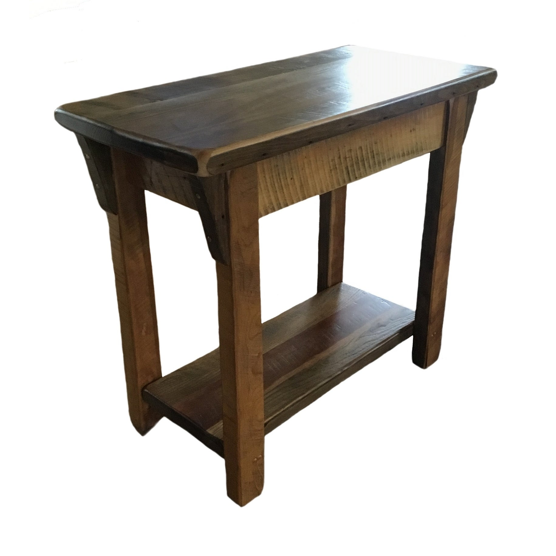 Shop Amish Made Sofa Table In Rustic Reclaimed Barnwood Free