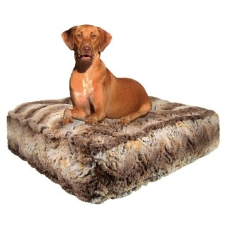 Bessie & Barnie Simba Ultra Plush Faux Fur Luxury Durable Sicilian Rectangle Pet/Dog Bed
