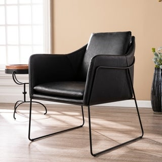 Carbon Loft Glenn Faux Leather Accent Chair