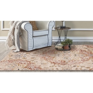 KAS Manor Ivory Distressed Manor Rug