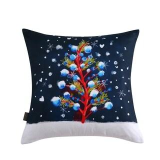 Sara B. Christmas Tree 20 in. Square Throw Pillow