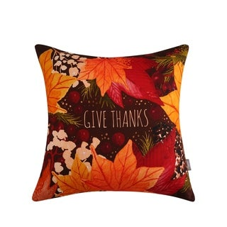 Sara B. Give Thanks 20 in. Square Throw Pillow