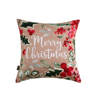 Sara B. Merry Christmas 20 in. Square Throw Pillow