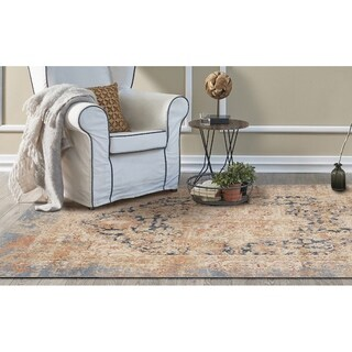 KAS Manor Blue Distressed Jerome Rug - 3' x 5'
