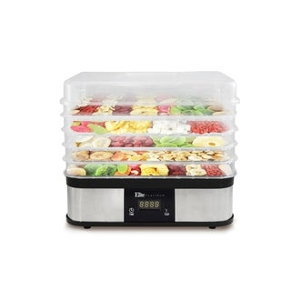 Elite EFD-1159D Digital Food Dehydrator, Stainless Steel