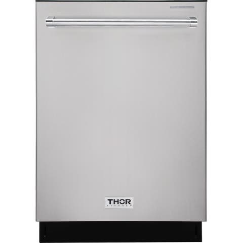 """Thor Kitchen - 24"""" Built-In Top Control Dishwasher in Stainless Steel, 45 dBA"""