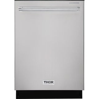 "Thor Kitchen - 24"" Built-In Top Control Dishwasher in Stainless Steel, 45 dBA"