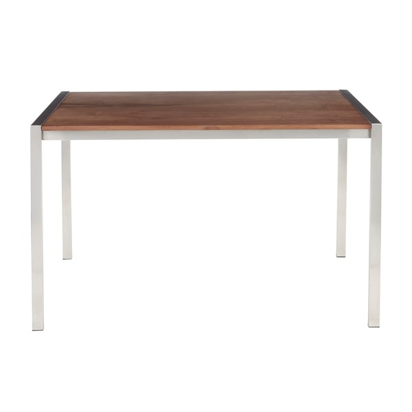 Fuji Contemporary Stainless Steel Dining Table - N/A