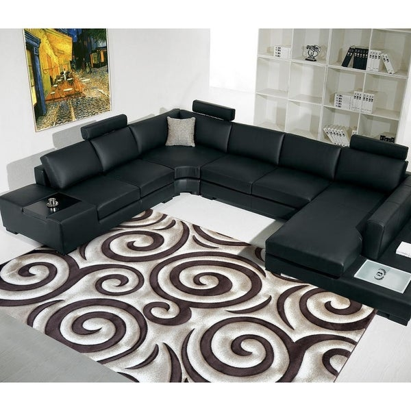 "Rug Tycoon Abstract Modern Contemporary Brown Rug - 2'0""x7'2""rectangular runner"