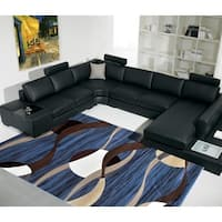 """Rug Tycoon Abstract Modern Contemporary Blue Rug - 5'3""""x7'2""""rectangular"""