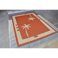 "Rug Tycoon Botanical Tropical Orange Rug - 7'11""x9'10""rectangular"