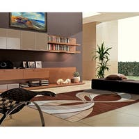 "Rug Tycoon Abstract Modern Contemporary Brown Rug - 7'11""x9'10""rectangular"