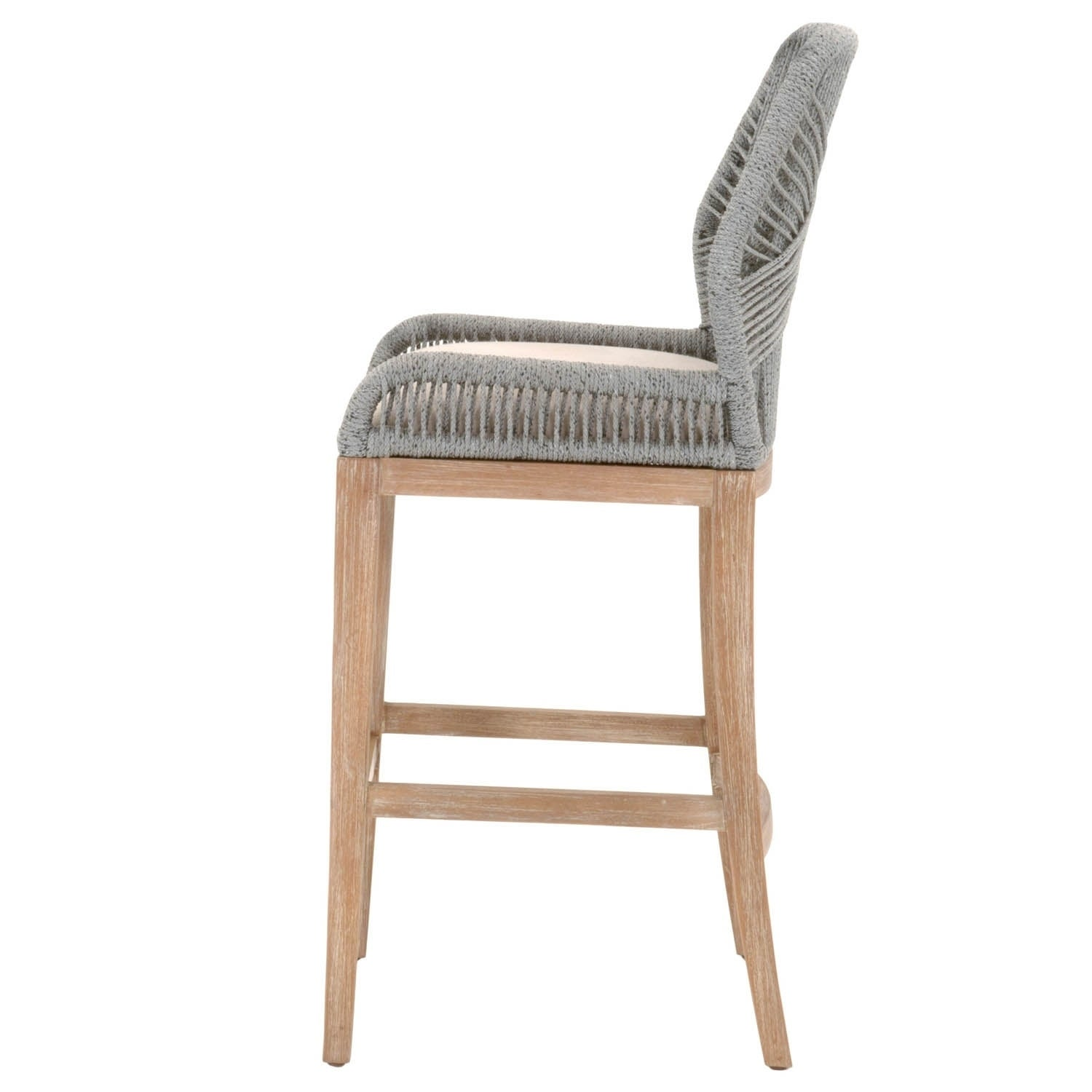Pleasing Striking Wooven Upholstered Loom Barstool Gray Gmtry Best Dining Table And Chair Ideas Images Gmtryco