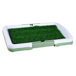 3 Layers Large Dog Potty Training Pee Pad Mat Puppy Tray Grass Toilet - green