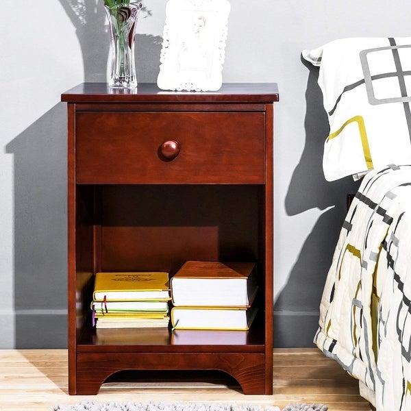 Wooden Storage Shelf Designs: Shop Harper & Bright Designs Wooden Night Stand With