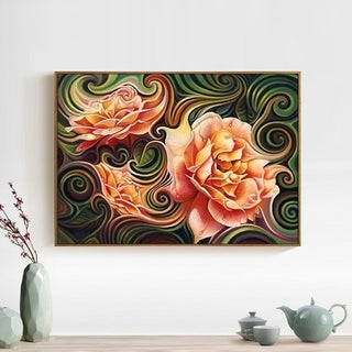 Elegant Style Flower Pattern Art Painting Resin Diamond Painting