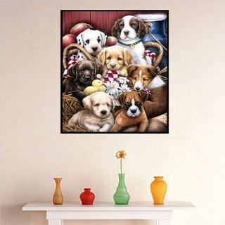 Dog Pattern Art Painting Resin Diamond Painting Embroidery DIY