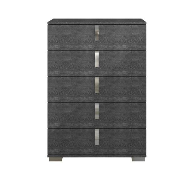 Five Drawer Chest With Efficient Storage Gray Birch