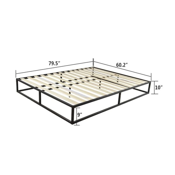 Simple Basic Iron Bed Twin Size Metal Platform Bed Frame 74.4 x 38.58 x 10/'/'