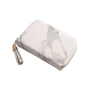 Zodaca Marble Pattern 10 Card Slots Travel Credit Card Wallet Business Card Holder for Women/Men (3 Colors Available)